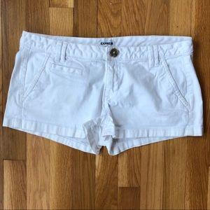 Express white cargo shorts